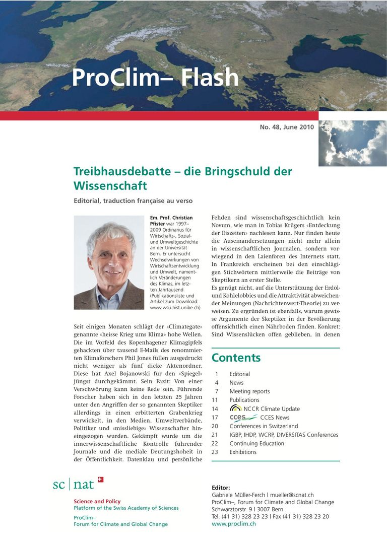 entire publication: ProClim- Flash 48 / Edito Christian Pfister