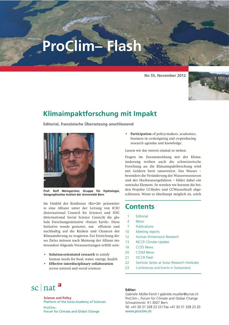 entire publication: ProClim- Flash 55 / Edito Rolf Weingartner