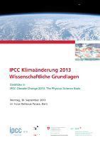 "Teaser: Stakeholder-Anlass ""IPCC Climate Change 2013: The Physical Science Basis"""