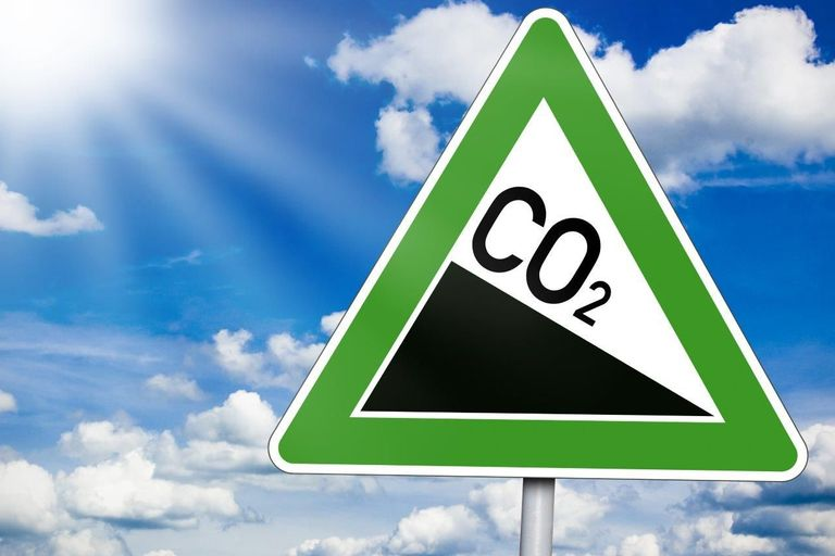 Sign with CO2
