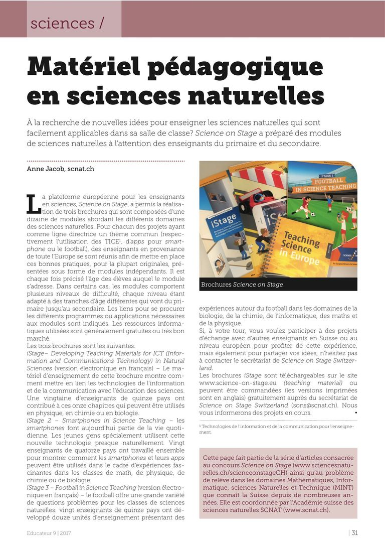 iStages - l'Educateur 9/2017