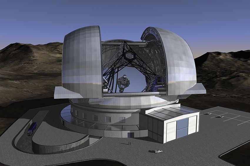 The ESO Extremely Large Telescope (ELT) is a 39 m-class telescope that will be the largest optical/near-infrared telescope world-wide and gathering 16 times more light than the largest optical telescopes existing today. It will be able to correct for the atmospheric distortions from the star, providing images 16 times sharper than those from the Hubble Space Telescope. The ELT will enable detailed studies of planets around other stars, the first galaxies in the Universe, super-massive black holes, and the nature of the Universe's dark sector.