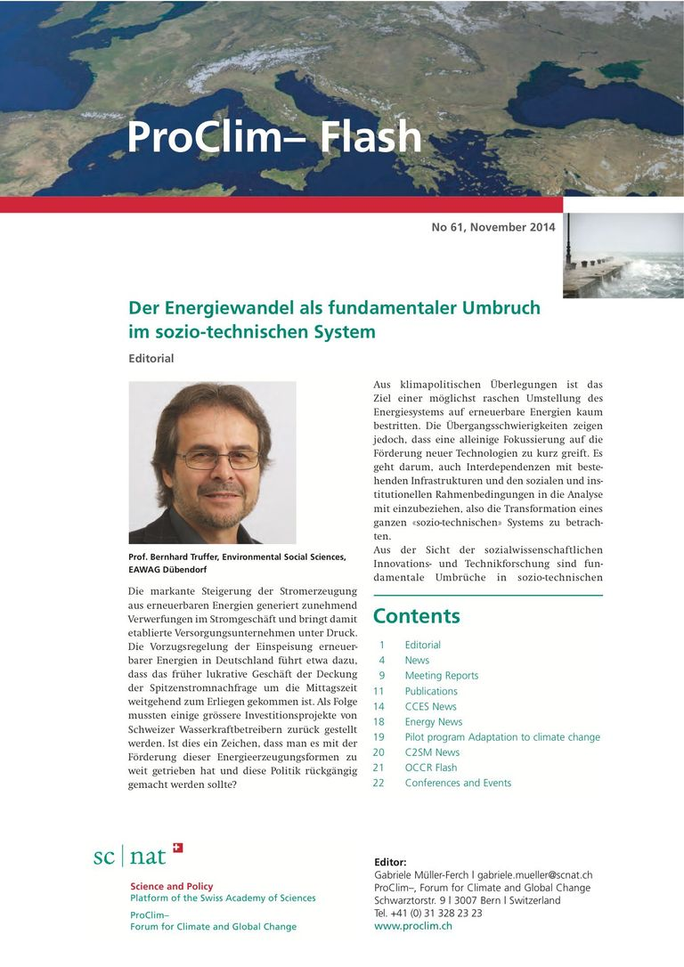 entire publication: ProClim- Flash 61 / Edito Bernhard Truffer