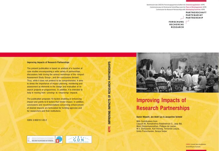 Improving Impacts of Research Partnerships