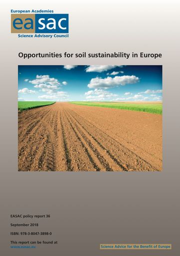 "EASAC-Bericht ""Opportunities for soil sustainability in Europe"""
