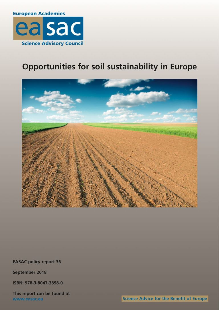 "Rapport de l'EASAC ""Opportunities for soil sustainability in Europe"""