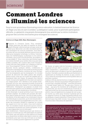 Science on Stage - l'Educateur 7/15