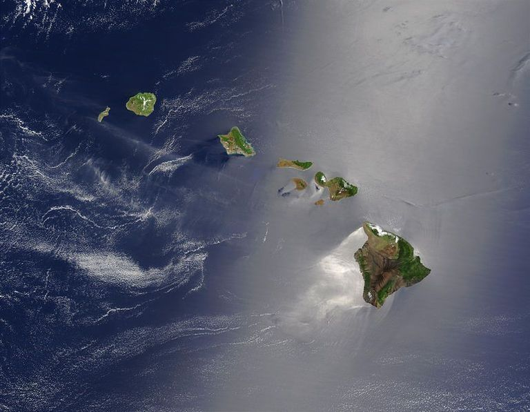 Satellitenbild des Archipels Hawaii
