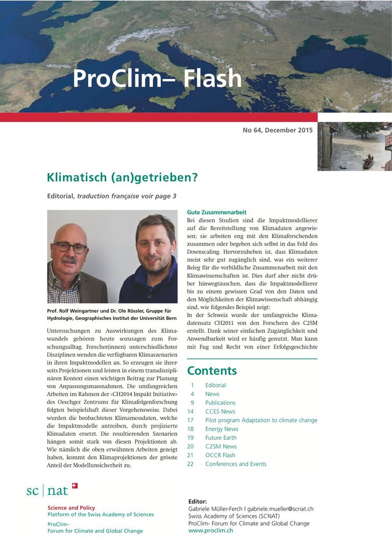 entire publication: ProClim- Flash 64 / Edito Rolf Weingartner and Ole Rössler