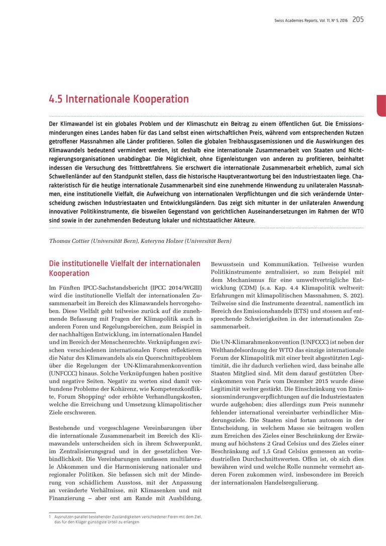 Kapitel Internationale Kooperation