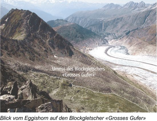 Blockgletscher Aletsch