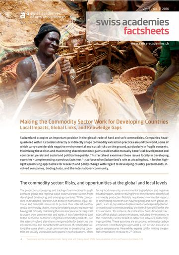 Making the Commodity Sector Work for Developing Countries