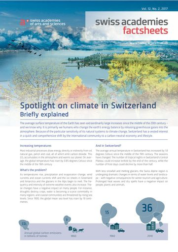 Spotlight on climate in Switzerland. Briefly explained