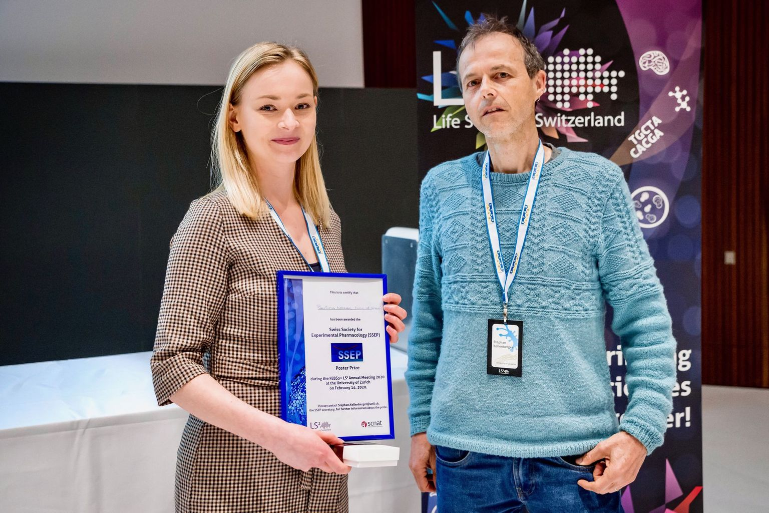 SSEP poster prize at LS2 meeting 2020
