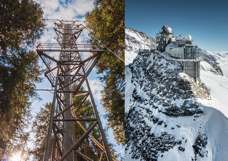 ICOS stations: Ecosystem station Davos & Atmosphere station Jungfraujoch