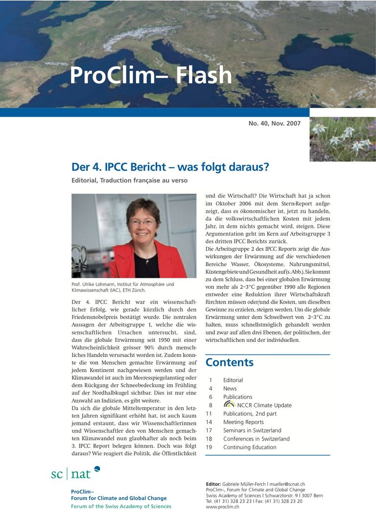 entire publication: ProClim- Flash 40 / Edito Ulrike Lohmann
