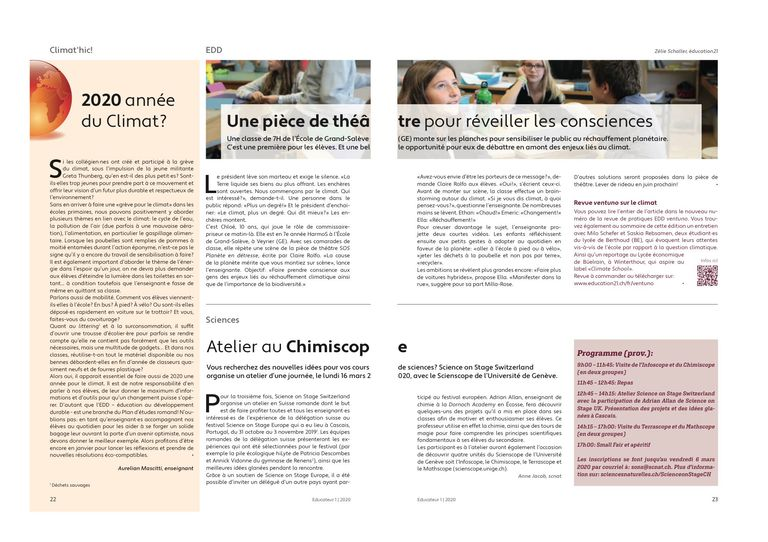 Chimiscope – l'Educateur 01/2020