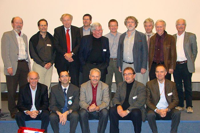 Speakers and organiser of the Year of Planet Earth Symposium in honour of Peter A. Ziegler at the SGM 2008 in Lugano