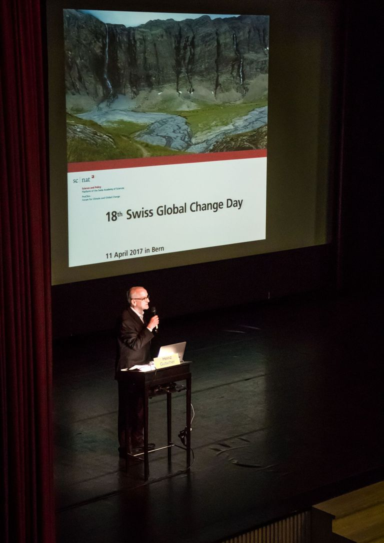 Heinz Gutscher, president of ProClim, opens the 18th Swiss Global Change Day #SGCD17