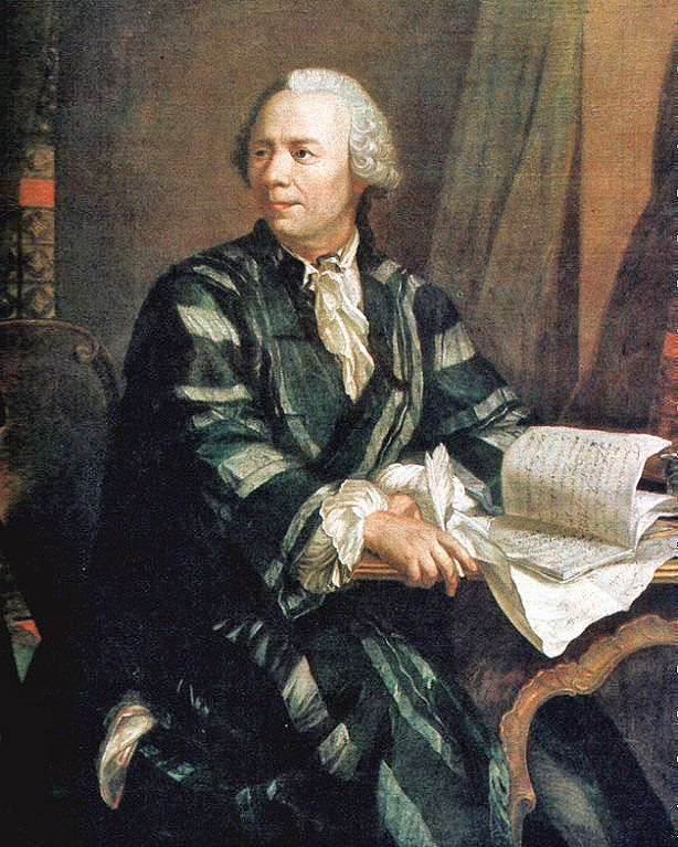 Leonhard Euler painted by Jakob Emanuel Handmann around 1756