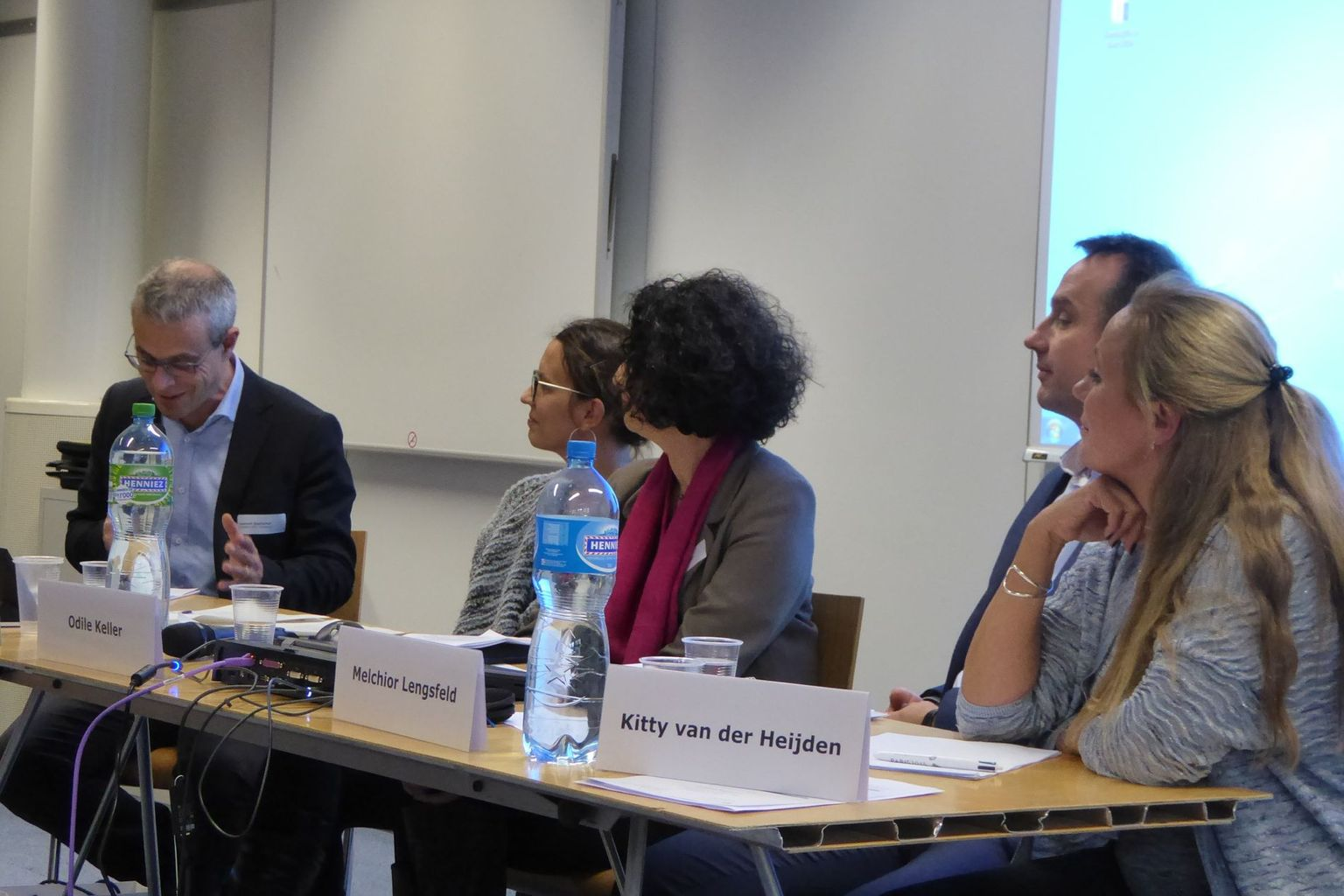 Panel with Kitty van der Heijden, Melchior Lengsfeld, Odile Keller, Isabel Günther and Laurent Goetschel