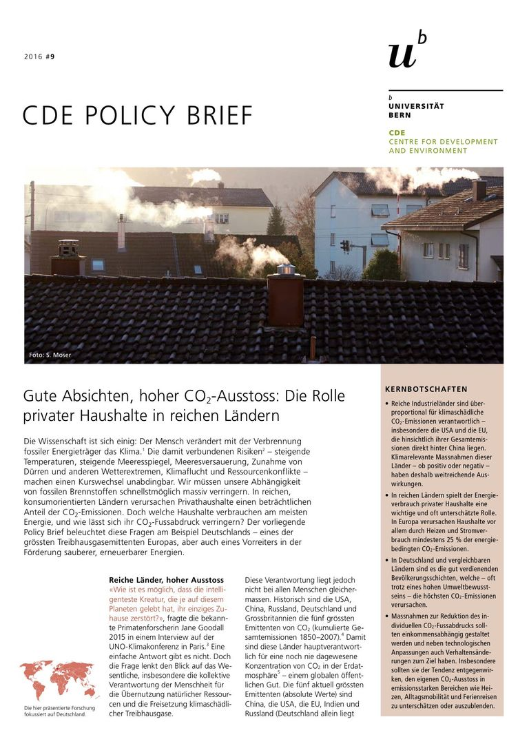 CDE Policy Brief 2016/9