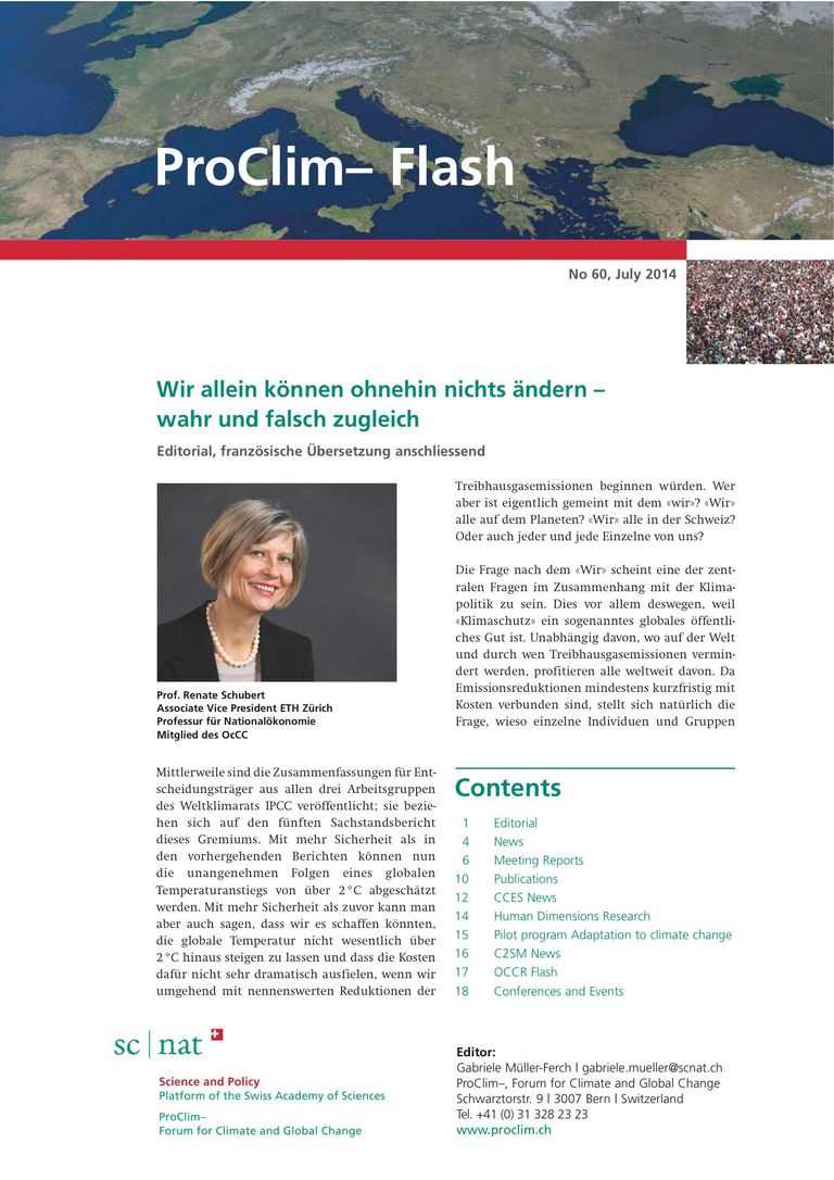 Download entire publication: ProClim- Flash 60 / Edito Renate Schubert