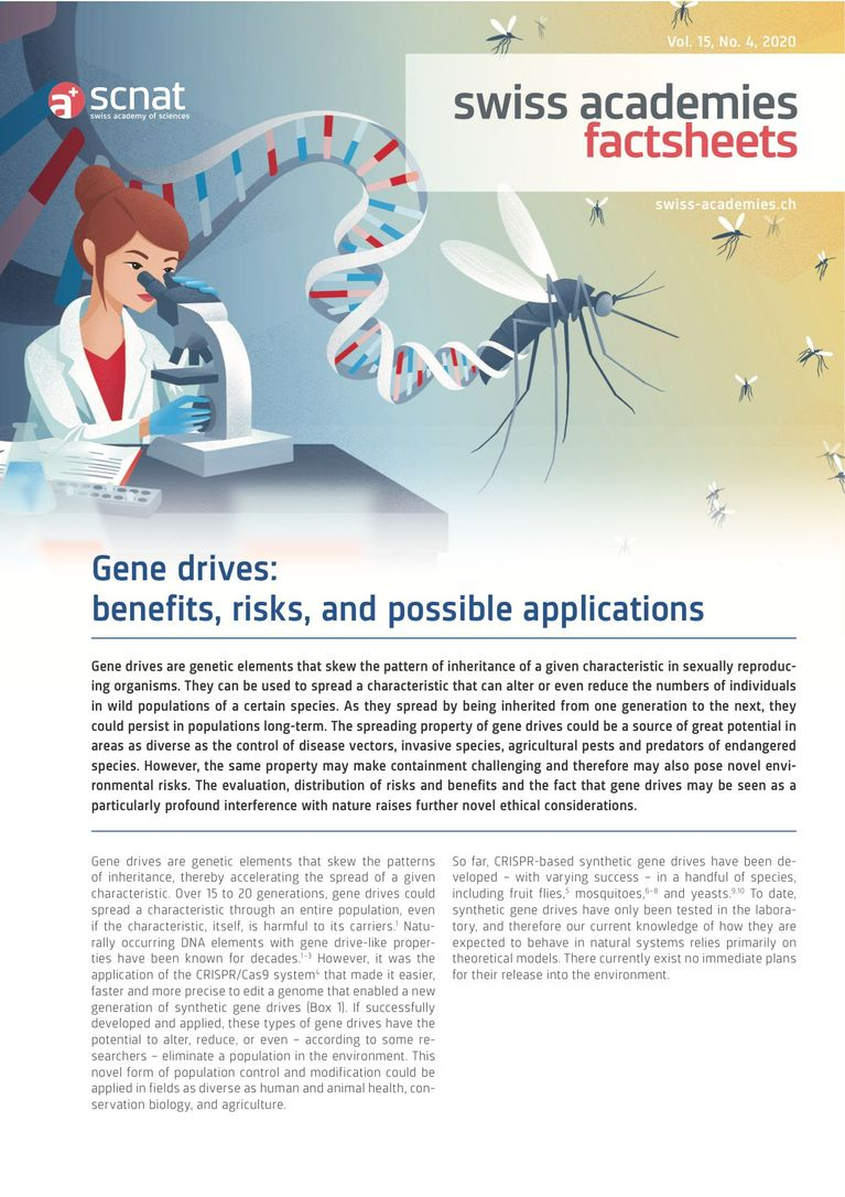 Gene drives: benefits, risks, and possible applications
