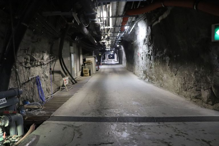 A 1.7 km long tunnel leads to the neutrino detector Super-Kamiokande. Photo: B. Vogel