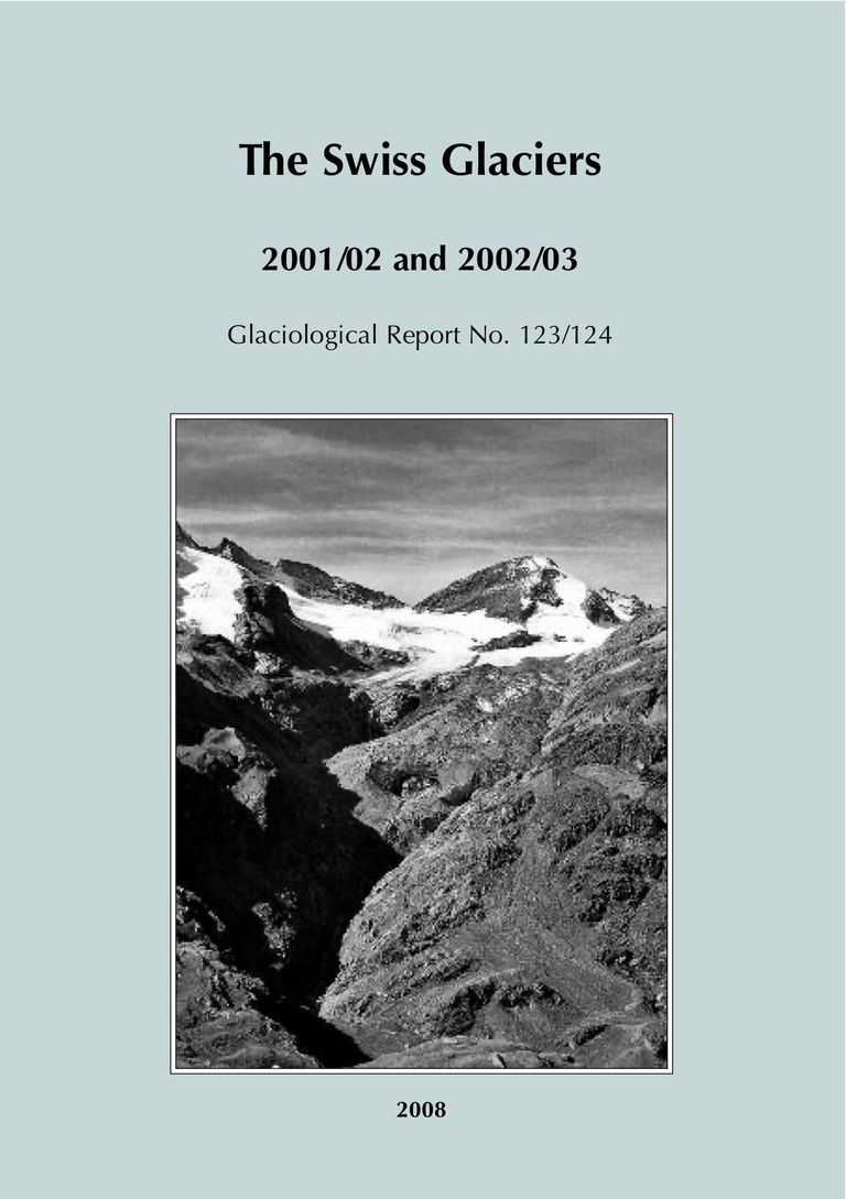 The Swiss Glaciers 2001/02 and 2002/03