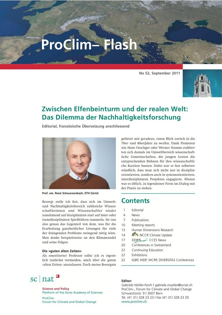 entire publication: ProClim- Flash 52 / Edito René Schwarzenbach