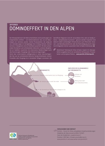 ProClim Flash 67: Dominoeffekt in den Alpen