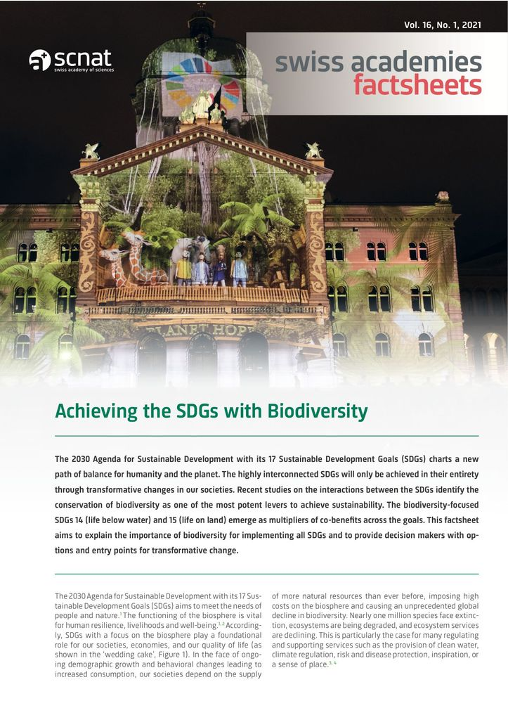 Achieving the SDGs with Biodiversity