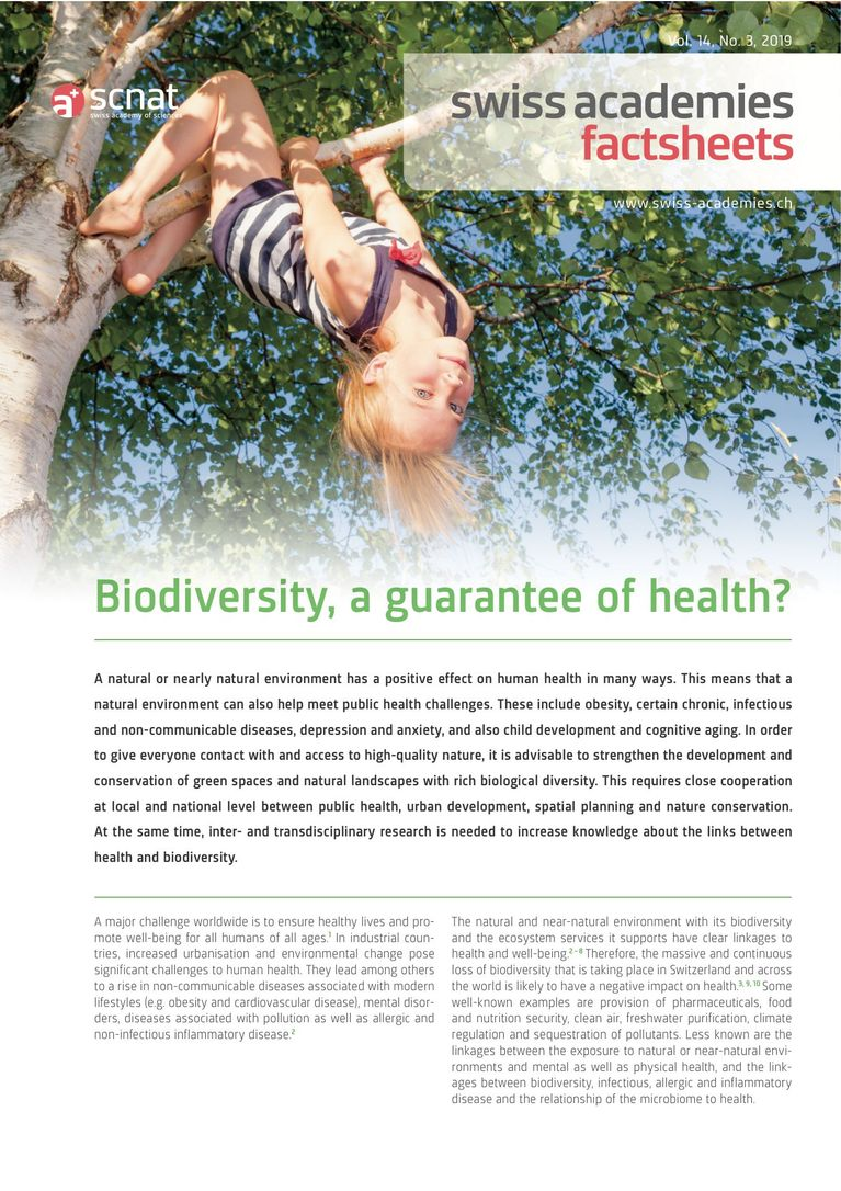 Biodiversity, a guarantee of health?