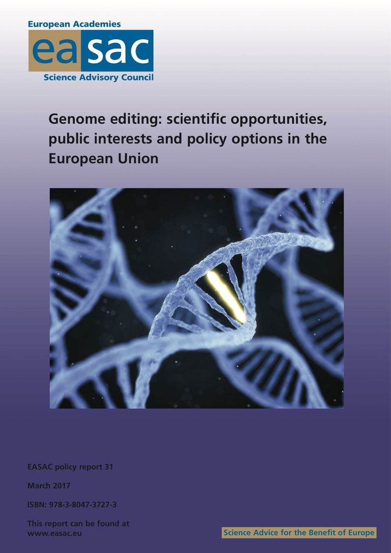 "EASAC-Bericht ""Genome editing: scientific opportunities, public interests and policy options in the European Union"""