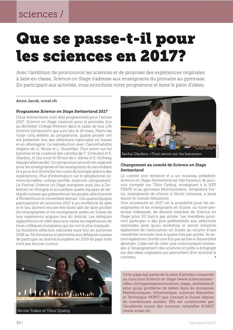 SonS2017 - Educateur 3/2017