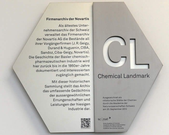 Chemical Landmark: Firmenarchiv der Novartis