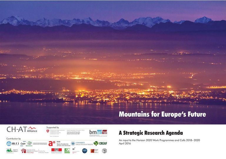 "Strategic Research Agenda ""Mountains for Europe's Future"": Mountains for Europe's Future"