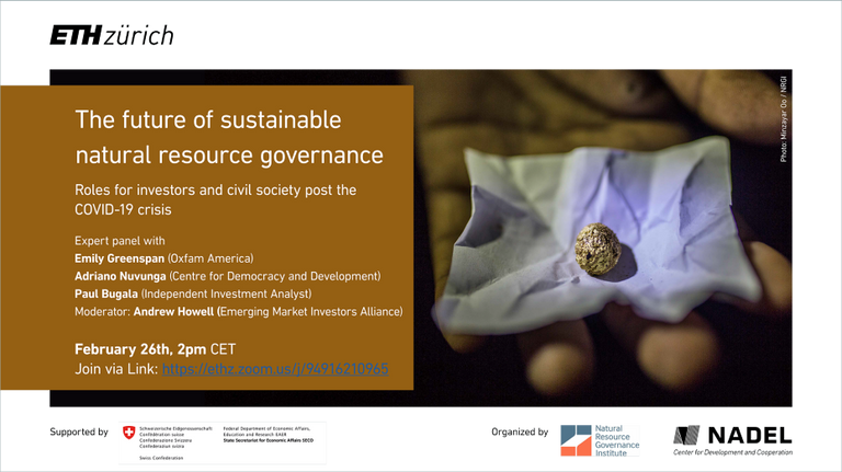 The future of sustainable natural resoruce governance