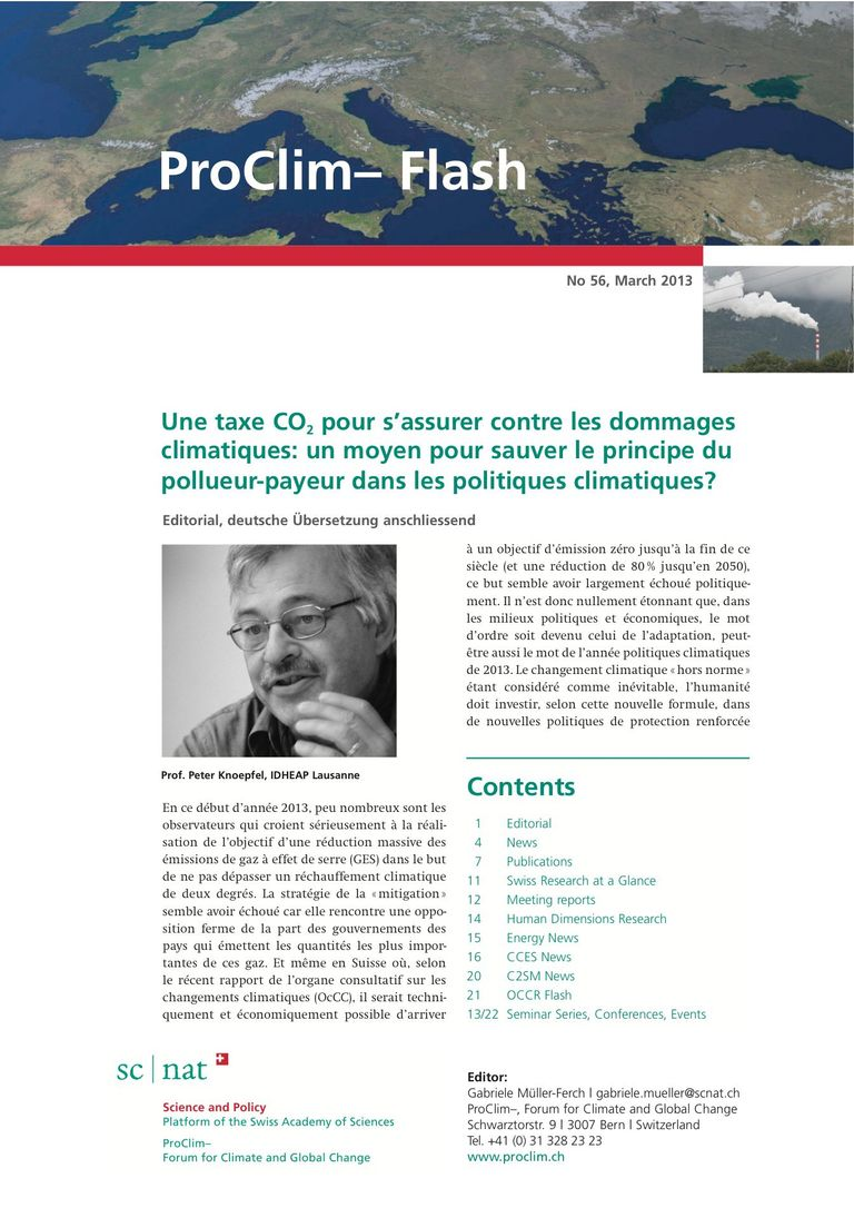 entire publication: ProClim- Flash 56 / Edito Peter Knoepfel