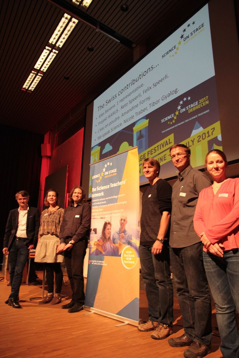 From left to right: Sacha Glardon, Nicole Traber, Tibor Gyalog, Reto Speerli, Felix Speerli, Amandine Forny
