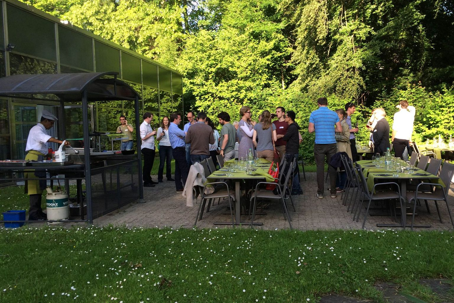 BBQ dinner at the Centre Loewenberg
