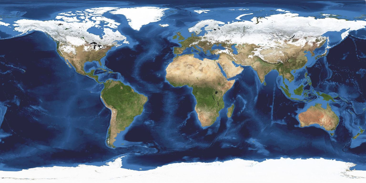 World map (NASA)