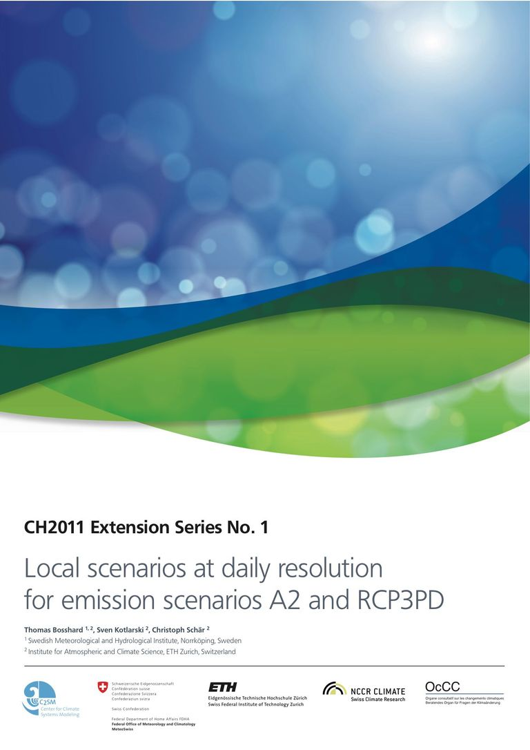 CH2011 Extension No. 1: Local scenarios at daily resolution for emission scenarios A2 and RCP3PD
