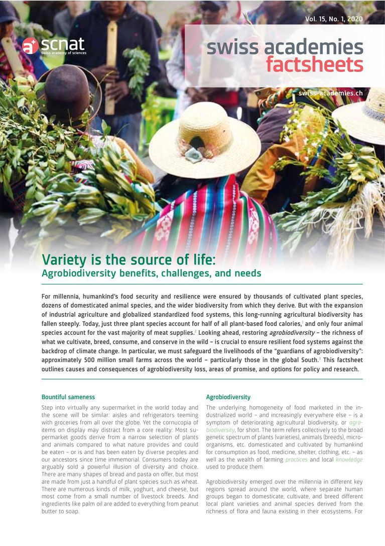Variety is the source of life: Agrobiodiversity benefits, challenges, and needs