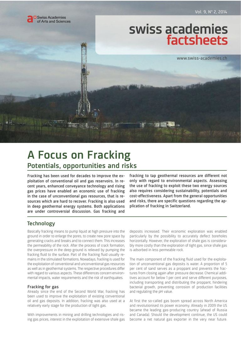 Download Factsheet: A Focus on Fracking (Factsheet)