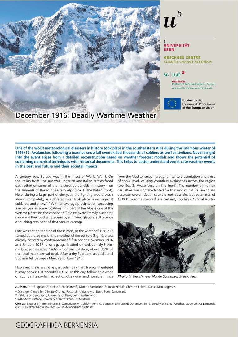 December 1916: Deadly Wartime Weather