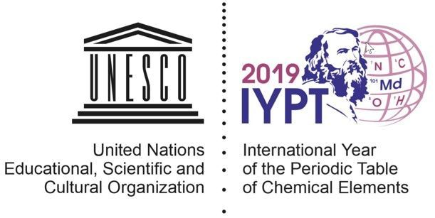 Logo of the IYPT 2019 - International Year of Periodic Table of the Chemical Elements