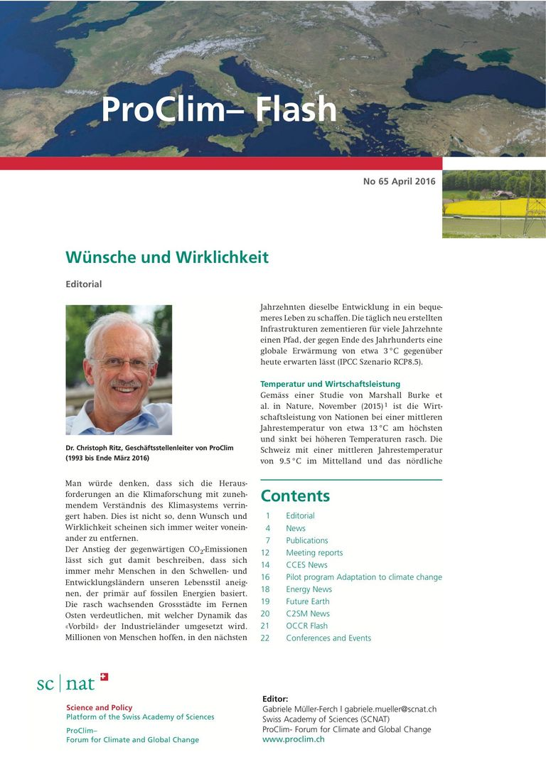 entire publication: ProClim- Flash 65 / Edito Christoph Ritz