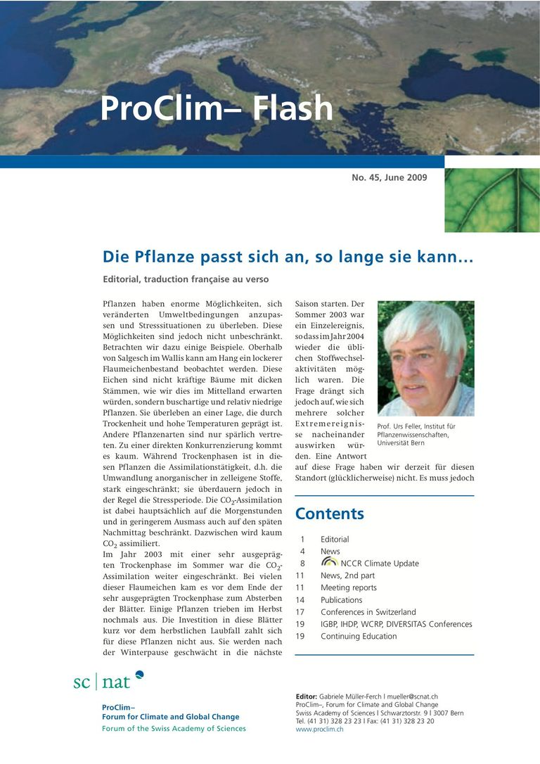 entire publication: ProClim- Flash 45 / Edito Urs Feller